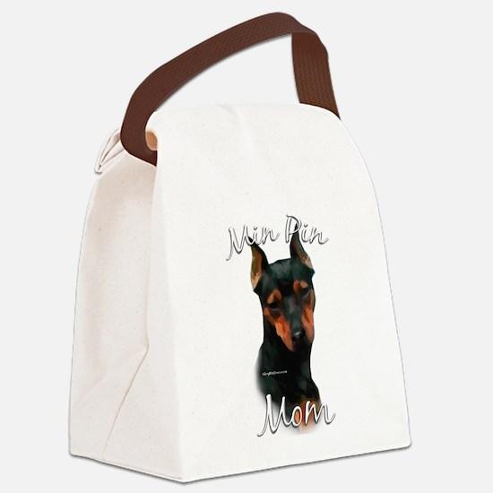 MiniPinblackMom.png Canvas Lunch Bag
