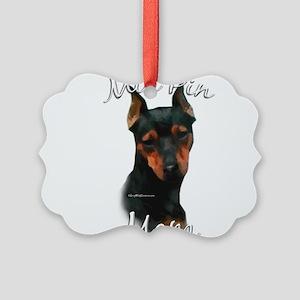 MiniPinblackMom Picture Ornament