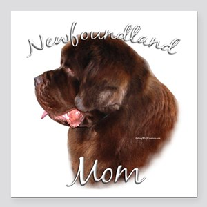 """NewfbrownMom Square Car Magnet 3"""" x 3&quo"""