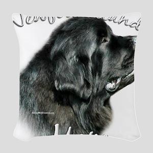 NewfblackMom Woven Throw Pillow