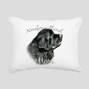 NewfblackMom Rectangular Canvas Pillow