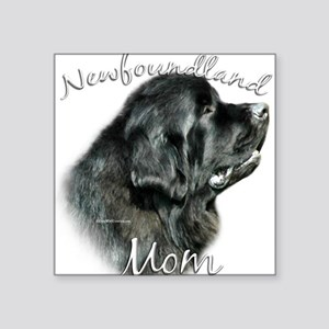 "NewfblackMom Square Sticker 3"" x 3"""