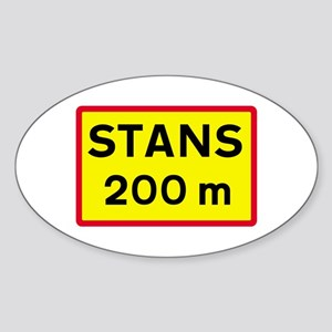 Stop Sign Ahead - Iceland Oval Sticker
