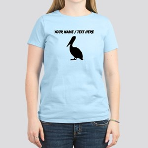 Personalized Black Pelican Silhouette T-Shirt