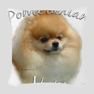 PomMom Woven Throw Pillow