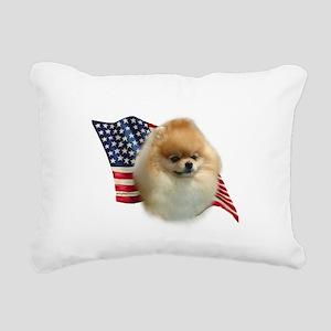 PomFlag Rectangular Canvas Pillow