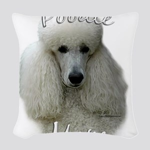 PoodlewhiteMom Woven Throw Pillow