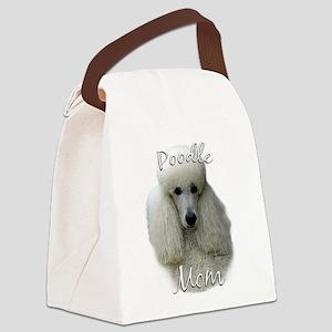 PoodlewhiteMom Canvas Lunch Bag
