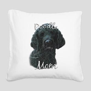 PoodleblackMom Square Canvas Pillow