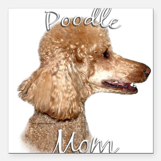 "PoodleapricotMom.png Square Car Magnet 3"" x 3"""