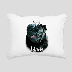 PugblackMom Rectangular Canvas Pillow