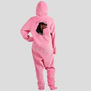 RottieMom Footed Pajamas