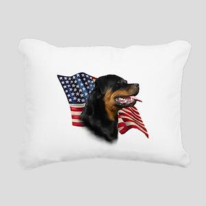 RottweilerFlag Rectangular Canvas Pillow