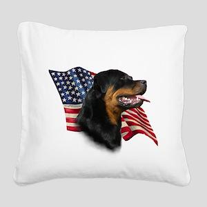 RottweilerFlag Square Canvas Pillow