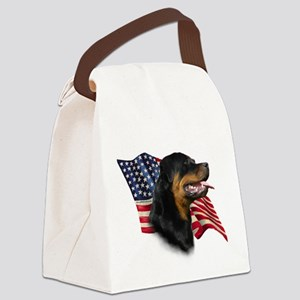 RottweilerFlag Canvas Lunch Bag