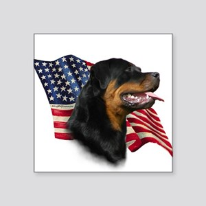 "RottweilerFlag Square Sticker 3"" x 3"""
