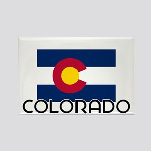 I HEART COLORADO FLAG Magnets