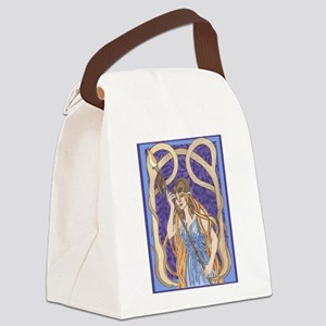 owl eyed athena Canvas Lunch Bag