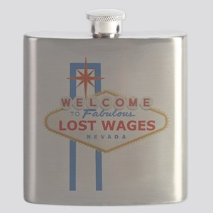 Lost Wages Nevada Flask