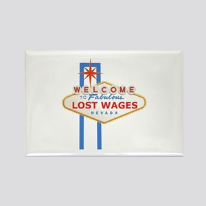Lost Wages Nevada Rectangle Magnet