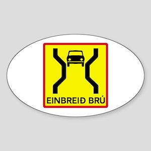 Single-Width Bridge - Iceland Oval Sticker