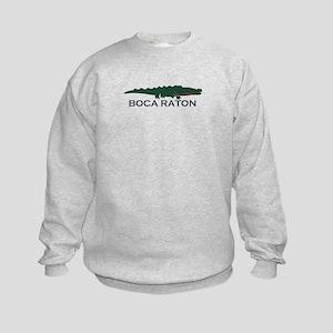 Boca Raton - Alligator Design. Kids Sweatshirt