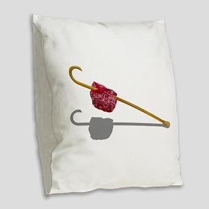 ElderlyGetAwayKit091711 Burlap Throw Pillow