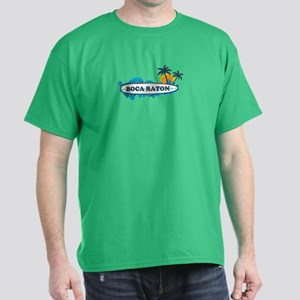 Boca Raton - Surf Design. Dark T-Shirt