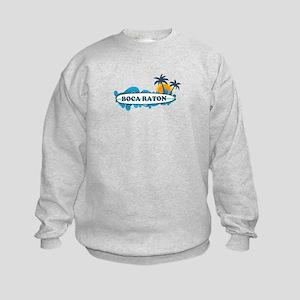 Boca Raton - Surf Design. Kids Sweatshirt