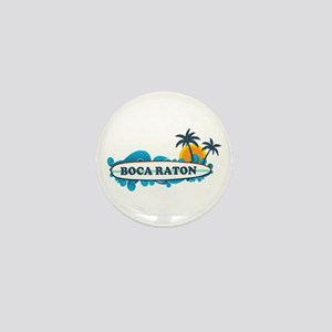 Boca Raton - Surf Design. Mini Button