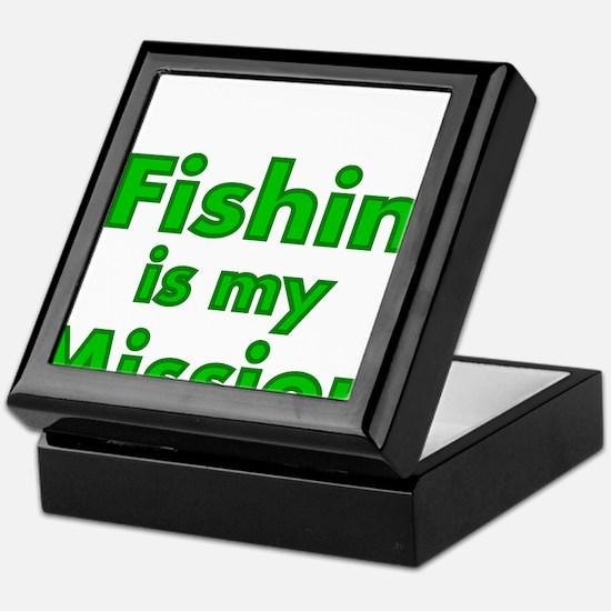 FISHIN IS MY MISSION Keepsake Box