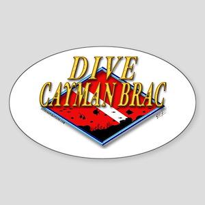 Dive Cayman Brac Oval Sticker
