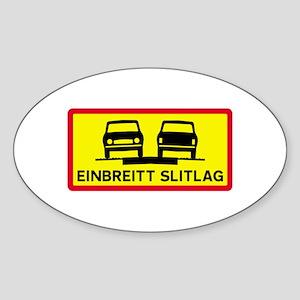 Single-Width Surface - Iceland Oval Sticker