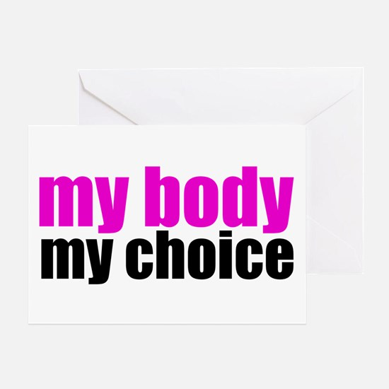 Pro Choice Pink Greeting Card