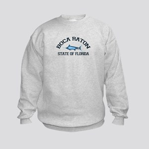 Boca Raton - Fishing Design. Kids Sweatshirt