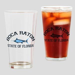 Boca Raton - Fishing Design. Drinking Glass