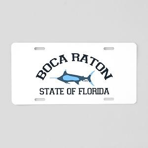 Boca Raton - Fishing Design. Aluminum License Plat