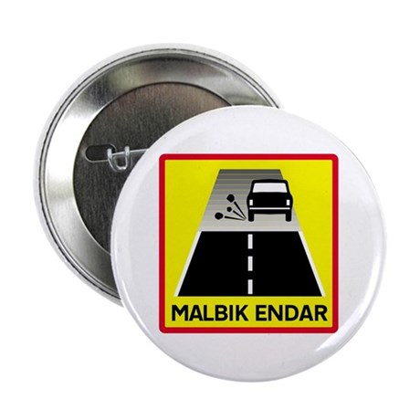 End Of Tarred Road - Iceland Button