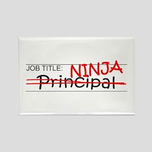 Job Ninja Principal Rectangle Magnet