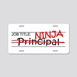Job Ninja Principal Aluminum License Plate