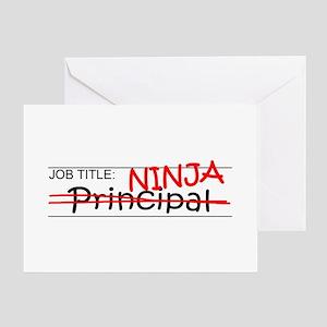 Job Ninja Principal Greeting Card