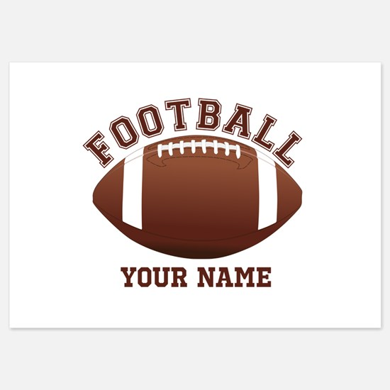 Personalized Name Footbal 5x7 Flat Cards