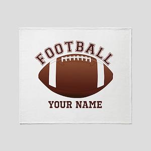 Personalized Name Footbal Throw Blanket