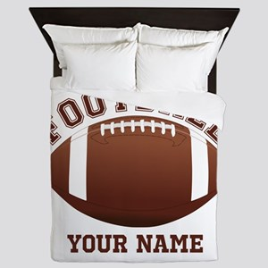 Personalized Name Footbal Queen Duvet