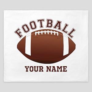 Personalized Name Footbal King Duvet