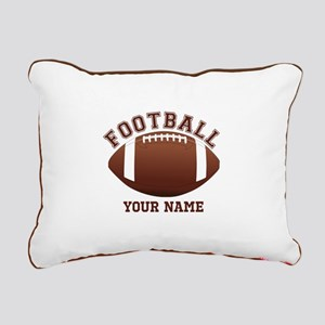 Personalized Name Footbal Rectangular Canvas Pillo