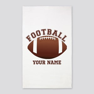 Personalized Name Footbal 3'x5' Area Rug