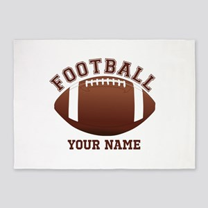 Personalized Name Footbal 5'x7'Area Rug