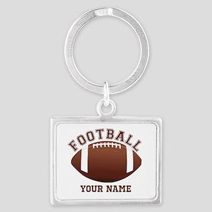 Personalized Name Footbal Landscape Keychain