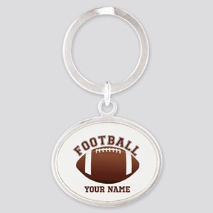 Personalized Name Footbal Oval Keychain